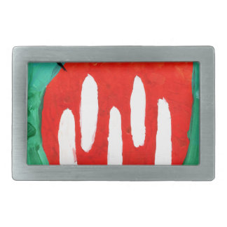 Cat fun drawing painting art handmade rectangular belt buckle