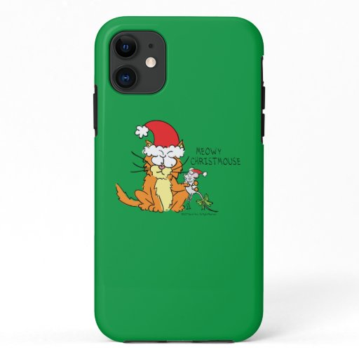 Cat Funny Christmas Cartoon Cute Mouse iPhone 11 Case