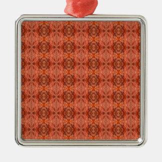 Cat fur pattern metal ornament