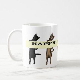 Cat Gang Wishes Happy Birthday Classic White Coffee Mug