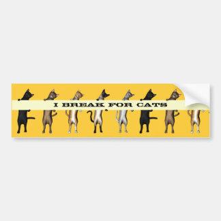 Cat Gang With Banner Bumper Sticker