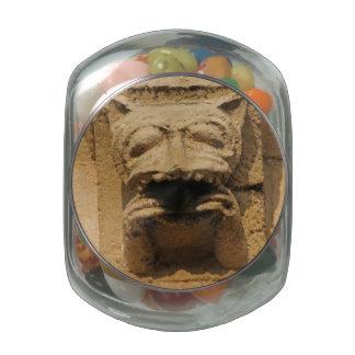 Cat gargoyle candy jar jelly belly candy jar