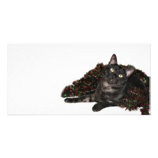 Cat garland Christmas Card