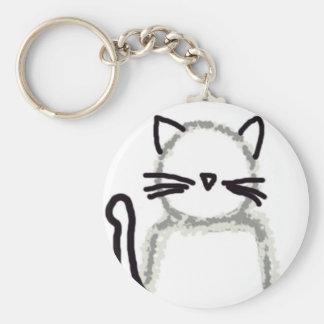 Cat Ghost Avatar Keychain