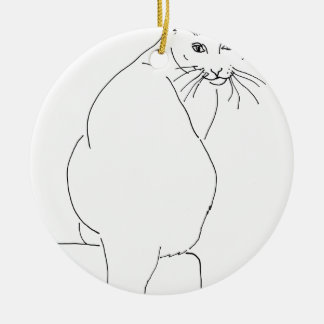 Cat Gift Shops.jpg Ceramic Ornament