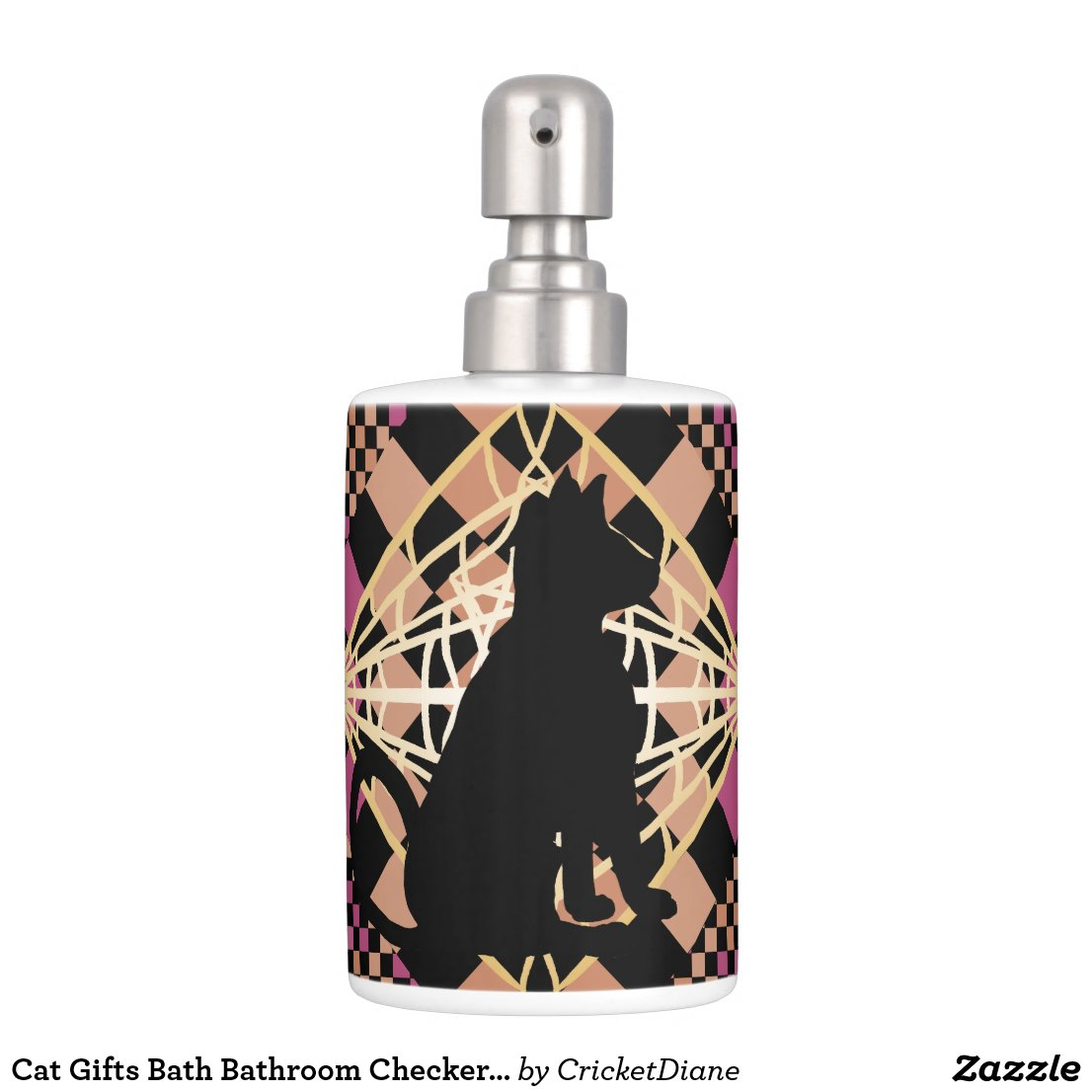 Cat Gifts Bath Bathroom Checkerboard CricketDiane Bath Set