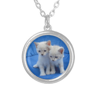 Cat Gifts Silver Plated Necklace