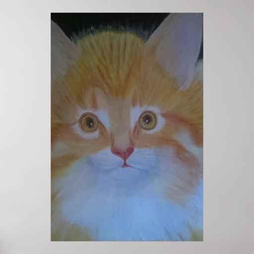 Cat Ginger Persian Poster