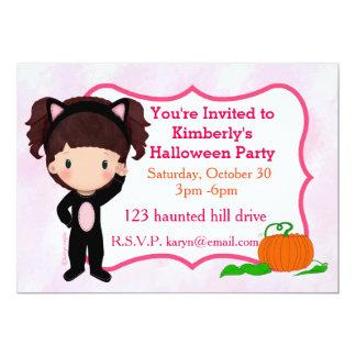 Cat Girl Halloween Party Invite
