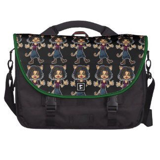 cat girl laptop bags