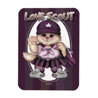 """CAT GIRL SCOUT  3""""x4"""" Photo Magnet"""