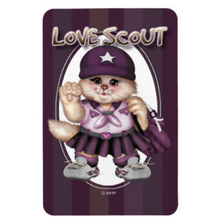"CAT GIRL SCOUT  4""x6"" Photo Magnet"