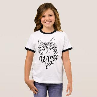 Cat Girl's Ringer T-Shirt