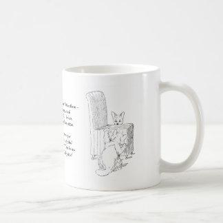 Cat Gives Dog a Fright Coffee Mug
