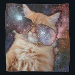 """Cat Glasses - sunglasses cat - cat space Bandana<br><div class=""""desc"""">cat, sunglasses,  pet,  &quot;funny cats&quot;,  &quot;space cat&quot;,  &quot;cats in space&quot;,  &quot;pet cat&quot;, &quot; orange cat&quot;, &quot;Glasses cat&quot;,  &quot;cat sunglasses&quot;</div>"""