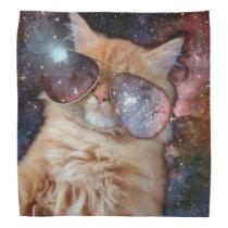 Cat Glasses - sunglasses cat - cat space Bandana