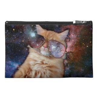 Cat Glasses - sunglasses cat - cat space Travel Accessory Bag