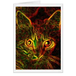 Cat Glow Card