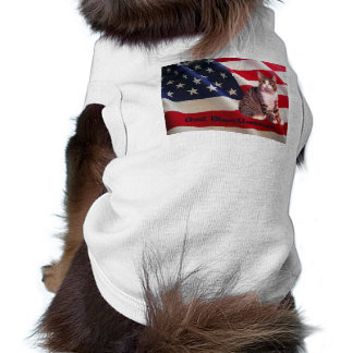 Cat God Bless America T-Shirt Doggie Tee