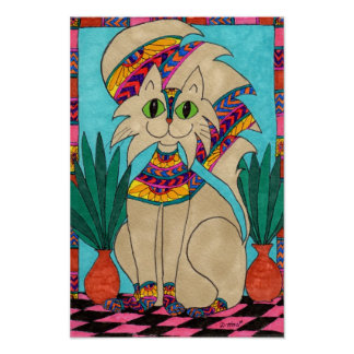 Cat Goddess Poster