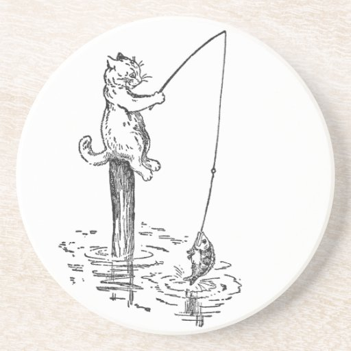 Cat Goes Fishing With a Pole Coaster