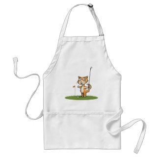Cat Golf Adult Apron