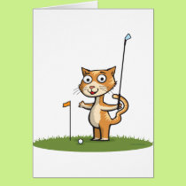Cat Golf Card
