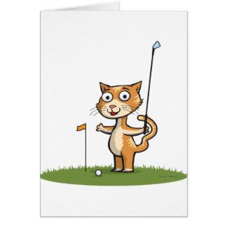Cat Golf Card
