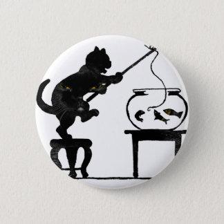 Cat Gone Fishing Button