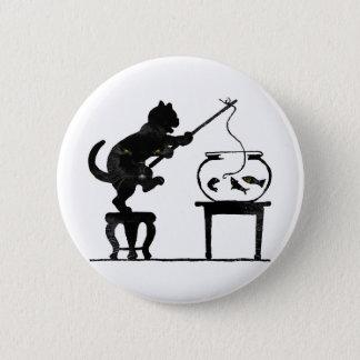 Cat Gone Fishing Pinback Button