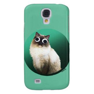 """""""Cat Googly Funda Para Galaxy S4"""