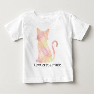 "Cat gradation ""Always together "" Baby T-Shirt"