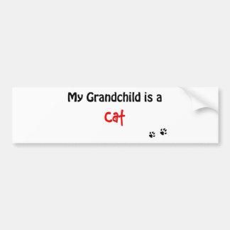 Cat Grandchild Bumper Sticker