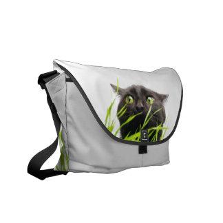 Cat & Grass. Courier Bag