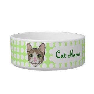 Cat Green Eyes - pet bowl
