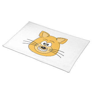 Cat Grin. Cloth Place Mat