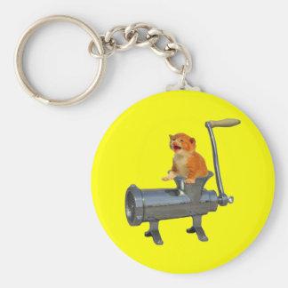 Cat Grinder Basic Round Button Keychain