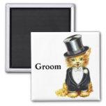 Cat Groom Fridge Magnets