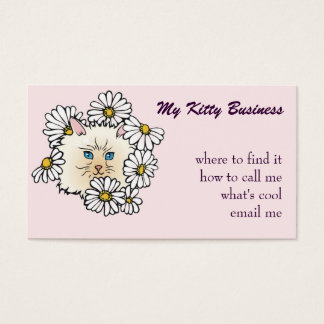 Cat Grooming, or cat sitter's card