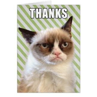 Cat™ gruñón le agradece cardar tarjeta pequeña