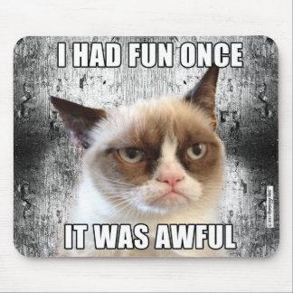 Cat™ gruñón Mousepad - me divertía una vez