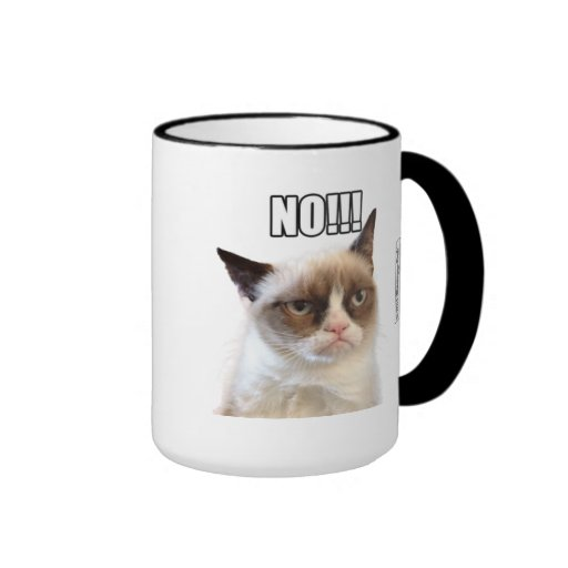 ¡Cat™ gruñón NO!!! Taza