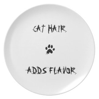 """""""Cat Hair Adds Flavor"""" Cat Paw Print plate"""