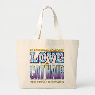 Cat Hair Love Face Jumbo Tote Bag