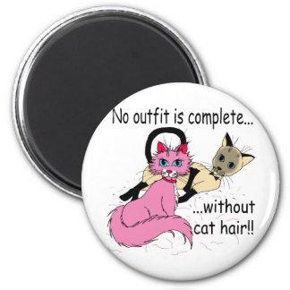 cat hair fridge magnet