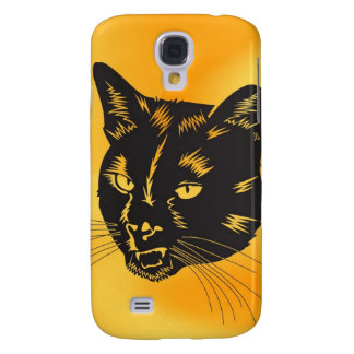 Cat Halloween Meou Whiskers hiss omen Galaxy S4 Case