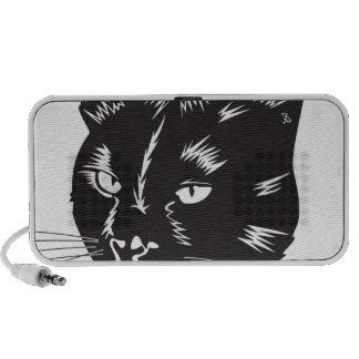 Cat Halloween Meou Whiskers hiss omen iPod Speaker
