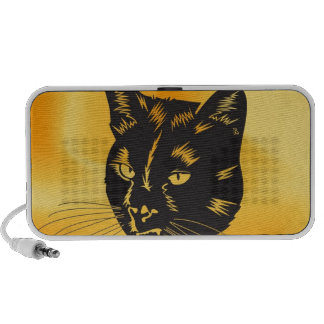 Cat Halloween Meou Whiskers hiss omen iPhone Speakers
