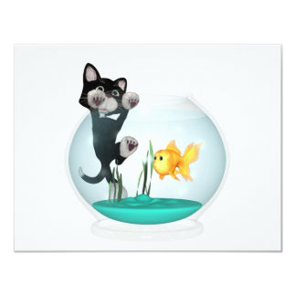 cat hanging on fishbowl card