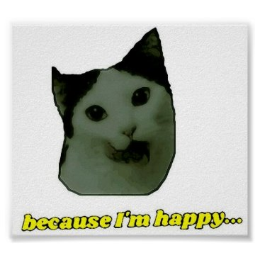 Cat Happy Face Poster